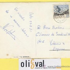 Postales: BARCO BARCOS PUERTO DESDE OSLO 23-8-70 MARINO ITALIANO DESDE S.GIORGIO A ROSA-P-0967. Lote 32174316