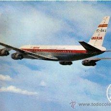 Postales: POSTAL IBERIA JET DOUGLAS DC-8 TURBOFAN. Lote 33386200