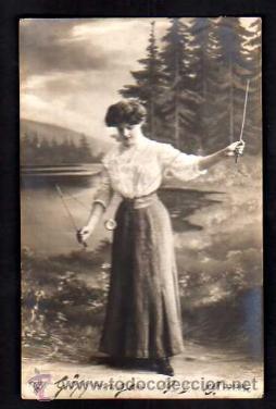 POSTAL FOTOGRÁFICA JOVEN CON YO-YO. CIRCULADA EN 1909 (Postales - Postales Temáticas - Aeroplanos, Zeppelines y Globos)