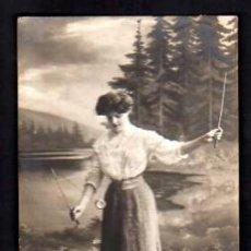 Postales - Postal fotográfica Joven con Yo-Yo. Circulada en 1909 - 33805669