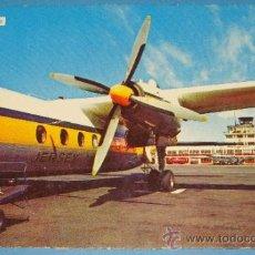 Postales: POSTAL DE AVIONES / AEROPUERTOS. AEROPUERTO JERSEY. AVIÓN HÉLICE JERSEY AIRLINES. 739 . . Lote 34002443