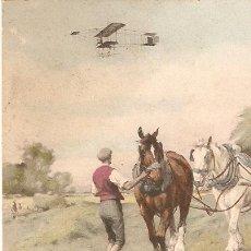 Postales - AEREOPLANO POR EL CAMPO POSTAL CIRCULADA EN 1909 EDITADA EN AUSTRIA - 34858150