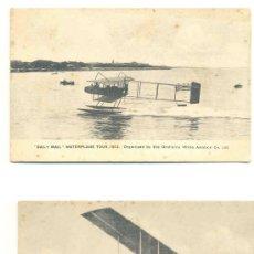 Postales: 2 - POSTALES DE HIDROAVIÓN .. DAILY MAIL .. WATERPLANE TOUT 1912. Lote 35220700