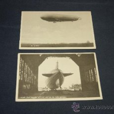Postales: LOTE DE 2 POSTALES DE ZEPPELIN, ALEMANAS, ORIGINALES.. Lote 35661278