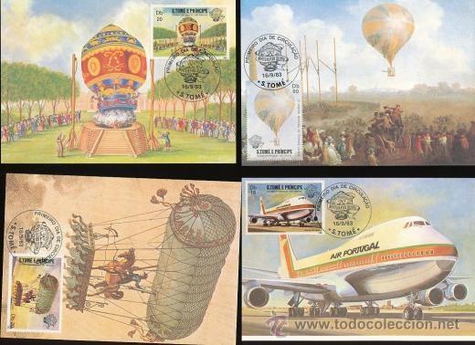 Postales: S.TOME E PRINCIPE 1983 POSTAL PRIMER DIA DE CIRCULACION AVIONES- AEROPLANOS- ZEPPELIN- 8 MODELOS - Foto 2 - 35845424