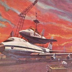 Postales: AVION / ESPACIO - SHUTTLE ORBITER 747 - JOHNSON SPACE CENTER / TEXAS / EEUU - ESCRITA - AÑO 1977. Lote 37523473