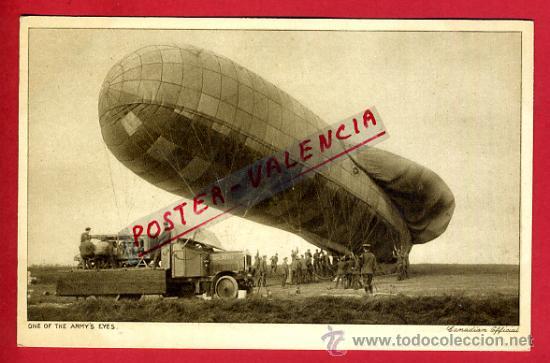 POSTAL GLOBO ZEPPELIN , CANADA , ANTIGUA , ORIGINAL , P78427 (Postales - Postales Temáticas - Aeroplanos, Zeppelines y Globos)