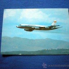 Postales: POSTAL AVION SPANTAX CONVAIR CV 990 A CORONADO NO CIRCULADA. Lote 38046751