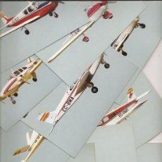 Postales: 10 POSTALES NUEVAS DE AVIONETAS DEPORTIVAS. EDITA REAL AERO CLUB BARCELONA-SABADELL. Lote 105599635