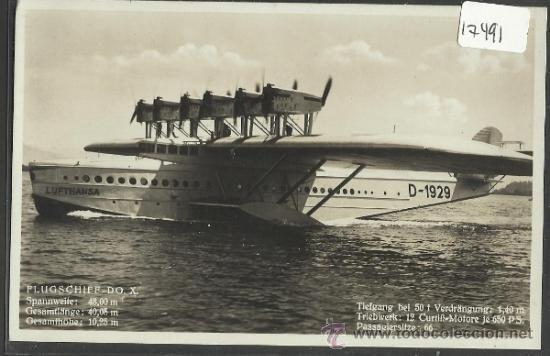HIDROAVION - FLUGSCHIFF DO X - PHOTO DORNIER METALLBAUTEN - (17491) (Postales - Postales Temáticas - Aeroplanos, Zeppelines y Globos)