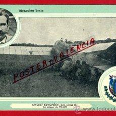 POSTAL AVION, AVIACION, CIRCUIT EUROPEEN JULIO 1911 , MONOPLAN TRAIN , ORIGINAL, SIN CIRCULAR, A5