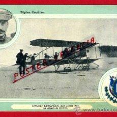 Postales: POSTAL AVION, AVIACION, CIRCUIT EUROPEEN 1911 , BIPLAN CAUDRON , ORIGINAL, SIN CIRCULAR, A9. Lote 39222987