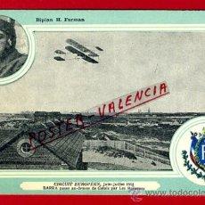 Postales: POSTAL AVION, AVIACION, CIRCUIT EUROPEEN 1911 , BIPLAN H. FARMAN , ORIGINAL, SIN CIRCULAR, A10. Lote 39223008