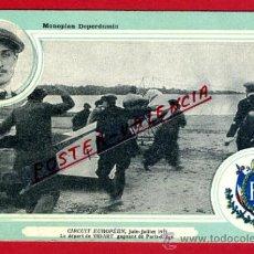 POSTAL AVION, AVIACION, CIRCUIT EUROPEEN 1911 , MONOPLAN DEPERDUSSIN , ORIGINAL, SIN CIRCULAR, A11