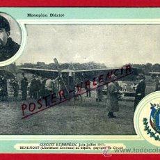 POSTAL AVION, AVIACION, CIRCUIT EUROPEEN 1911 , MONOPLAN BIERIOT , ORIGINAL, SIN CIRCULAR, A12