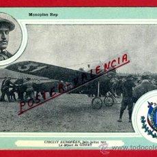 Postales: POSTAL AVION, AVIACION, CIRCUIT EUROPEEN 1911 , MONOPLAN REP , ORIGINAL, SIN CIRCULAR, A13. Lote 39223054