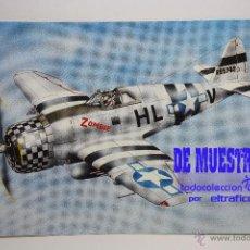Postales: POSTALES AVION P-47 B THUNDERBOLT - POSTAL AERO M. Lote 39811659