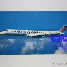 Postales: POSTALES AEROLINEA CROSSAIR - EMBRAER ERJ-145 - POSTAL // PH DISPONIBLE:3. Lote 226660940