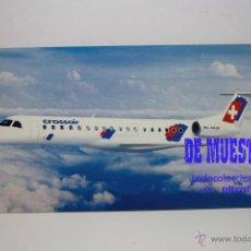 Postales: POSTALES AEROLINEA CROSSAIR - EMBRAER ERJ-145 - POSTAL // PH. Lote 226660150