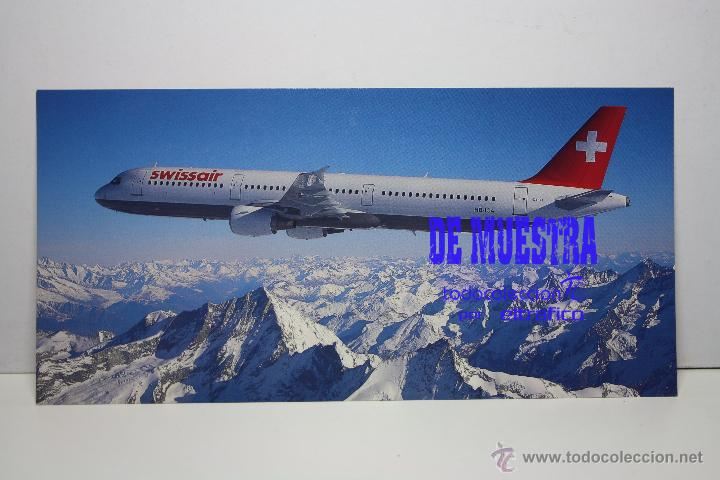 POSTALES AEROLINEA SWISSAIR - AIRBUS A321-111 - POSTAL // PH (Postales - Postales Temáticas - Aeroplanos, Zeppelines y Globos)