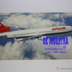 Postales: POSTALES AEROLINEA SWISSAIR - MCDONNELL DOUGLAS MD-11 - POSTAL // PH. Lote 226660675