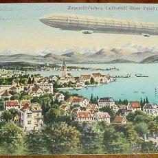 Postales: ANTIGUA POSTAL ZEPELIN - ZEPPELIN - LUFTSCHIFF ÜBER FRIEDRICHSHASEN - NO CIRCULADA.. Lote 38247057