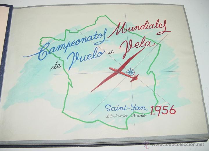 ANTIGUO ALBUM FOTOGRAFICO DE EL CAMPEONATO MUNDIAL DE VUELO A VELA DE 1956 EN SAINT YAN (FRANCIA) C (Postales - Postales Temáticas - Aeroplanos, Zeppelines y Globos)
