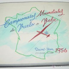Postales: ANTIGUO ALBUM FOTOGRAFICO DE EL CAMPEONATO MUNDIAL DE VUELO A VELA DE 1956 EN SAINT YAN (FRANCIA) C. Lote 38264424
