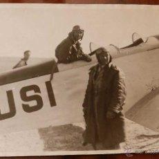 Postales: ANTIGUA FOTOGRAFIA DE LUDOVIC ARRACHART EN EL AERODROMO DE GETAFE (MADRID) 1920 - MIDE 18 X 13,5 CMS. Lote 38270116