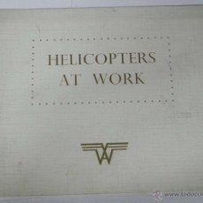 Postales: ANTIGUO CATALOGO DEL HELICOPTERO ALOUETTE II SUD AVIATION, DESCRIPTION, SOMMAIRE, GENERALITES, VERS. Lote 51637699