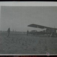 Postales: ANTIGUA FOTO POSTAL DE AVION EN LINARES, JAEN, AÑO 1924, NO CIRCULADA, NO PONE EDITORIAL.. Lote 38284850