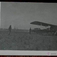 Postales: ANTIGUA FOTO POSTAL DE AVION EN LINARES, JAEN, AÑO 1924, NO CIRCULADA, NO PONE EDITORIAL. LIGERAMENT. Lote 38284851