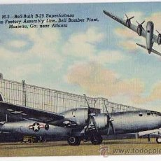 Postales: B-29 SUPERFORTRESS. OLD POSTAL CARD. ORIGINAL. 1950S. Lote 40339733