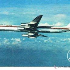 Postales: IBERIA POSTAL PUBLICITARIA JET DOUGLAS DC-8/63 AÑOS 60-70 NUEVA. Lote 40955167