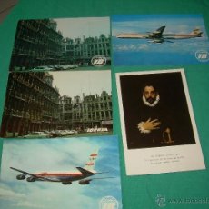 Postales: LOTE DE POSTALES DE AVIONES AÑOS 70-80 IBERIA. Lote 41243201