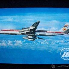 Postales: POSTAL SIN CIRCULAR ED RUAN S.A IBERIA JET DOUGLAS SUPER DC-8/63 . Lote 41694690