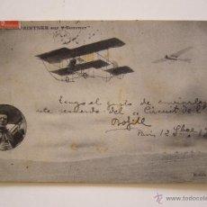 Postales: POSTAL. AEROPLANOS Y PILOTO. CIRCUIT DE L'EST. CIRCULADA EN 1910.. Lote 42014230