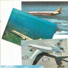 Postales: LOTE DE 4 POSTALES AVIONES DE IBERIA AÑOS 50-60 SIN CIRCULAR. Lote 42469459