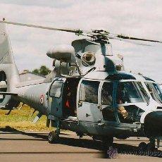 Postales: UN HELICOPTERO DEL EJERCITO FRANCÉS EN UNA BASE AEREA. Lote 42792621