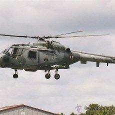 Postales: UN HELICOPTERO DEL EJERCITO FRANCÉS EN UNA BASE AEREA. Lote 42792630