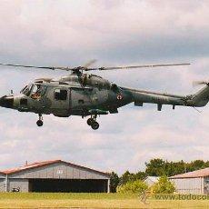 Postales: UN HELICOPTERO DEL EJERCITO FRANCÉS EN UNA BASE AEREA. Lote 42792638