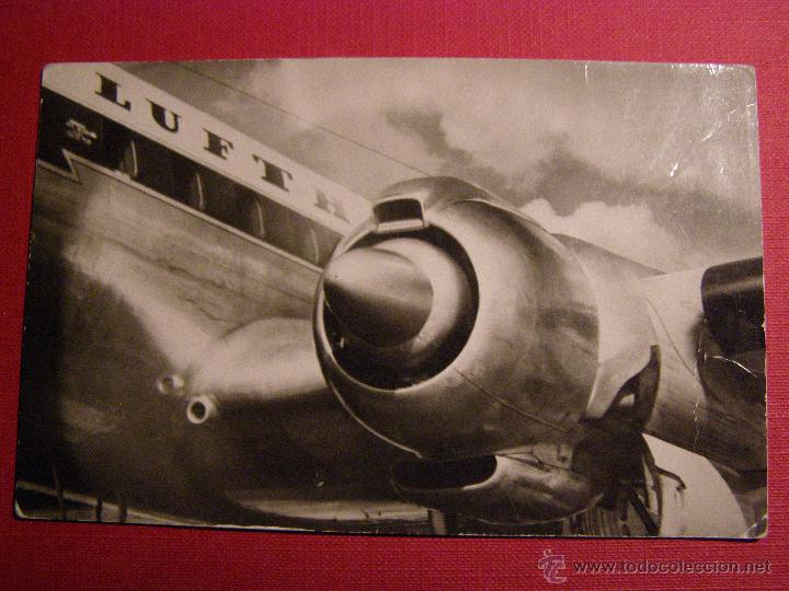 ANTIGUA POSTAL - LUFTHANSA - EINER DER 4 MOTOREN DER LOCKHEED SUPER G CONSTELLATION - NO ESCRITA (Postales - Postales Temáticas - Aeroplanos, Zeppelines y Globos)