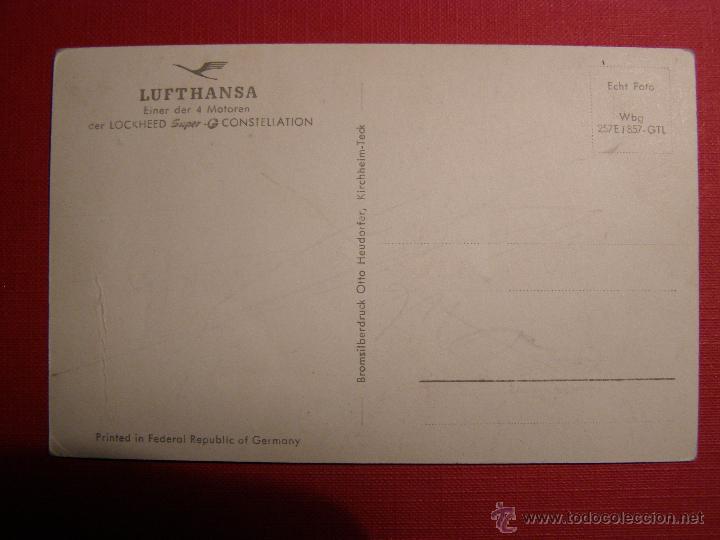 Postales: Antigua postal - Lufthansa - Einer der 4 motoren der Lockheed Super G Constellation - No escrita - Foto 2 - 43149722