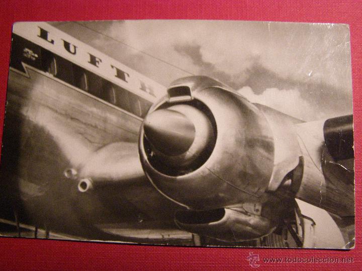 Postales: Antigua postal - Lufthansa - Einer der 4 motoren der Lockheed Super G Constellation - No escrita - Foto 3 - 43149722