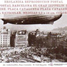 Postales: 08 TARJETA POSTAL FACSIMIL 2 TK1 BARCELONA EKL GRAF ZEPPELIN ~ 266/ 1. Lote 43727122