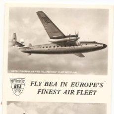 Postales: POSTAL DE BRITISH EUROPEAN AIRWAYS. Lote 44316019