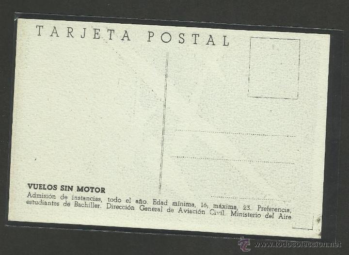 Postales: POSTAL VUELOS SIN MOTOR - DIRECCION GENERAL DE AVIACION CIVIL MINISTERIO DEL AIRE - (24039) - Foto 2 - 44419665