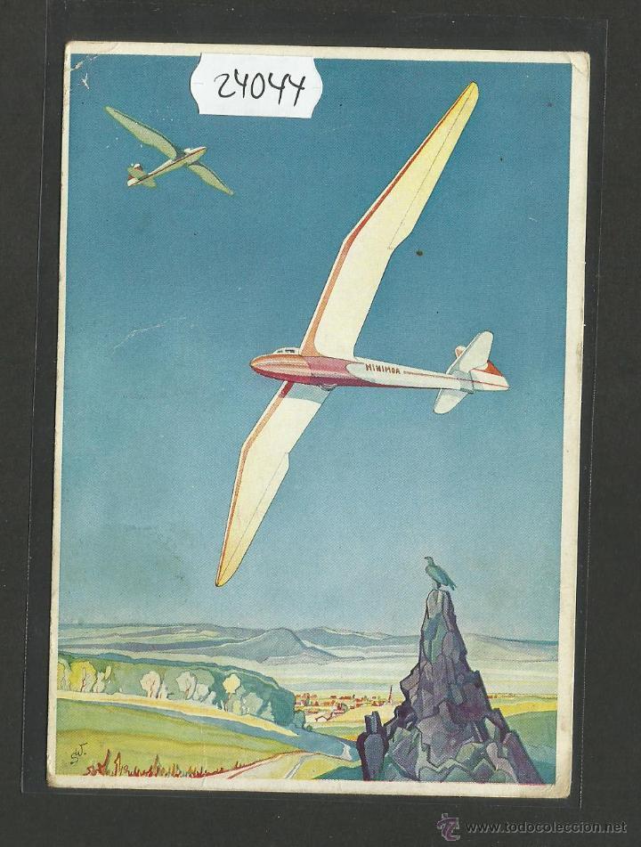 POSTAL VUELOS SIN MOTOR - ALEMANIA - (24044) (Postales - Postales Temáticas - Aeroplanos, Zeppelines y Globos)