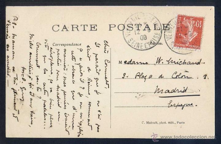 Postales: France *Les Pionniers de l´air - Blériot, aviateur français* Circulada 12 Sep. 1909. - Foto 2 - 4593111