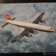 Postcards - Postal de SWISSAIR, Avión DC-& B. Sin circular - 44796590